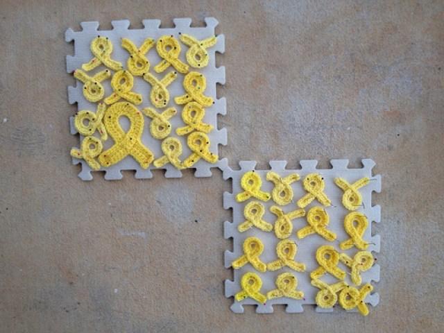 crochetbug, crochet ribbons, cancer awareness crochet ribbon, cancer awareness
