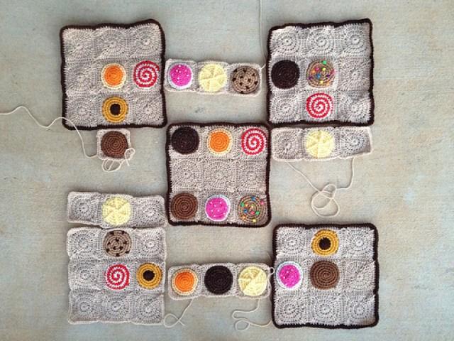 Pi Day 2013, crochetbug, crochet cookies, crochet sudoku, crochet circles, crochet puzzle, crochet blanket, crochet throw