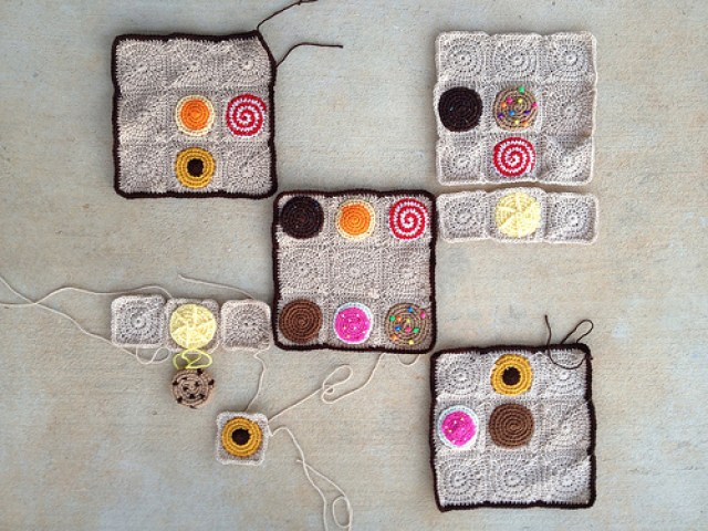 crochet cookies, crochet sudoku, crochetbug, crochet squares, crochet circles, crochet puzzle, crochet lemonade, textured crochet cookie