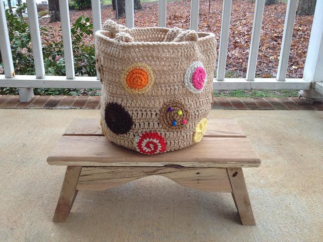 crochet cookie crochet tote