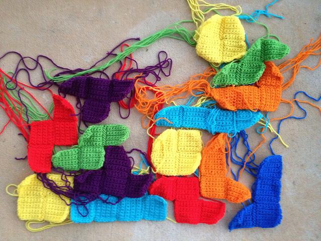 crochet tetrominos