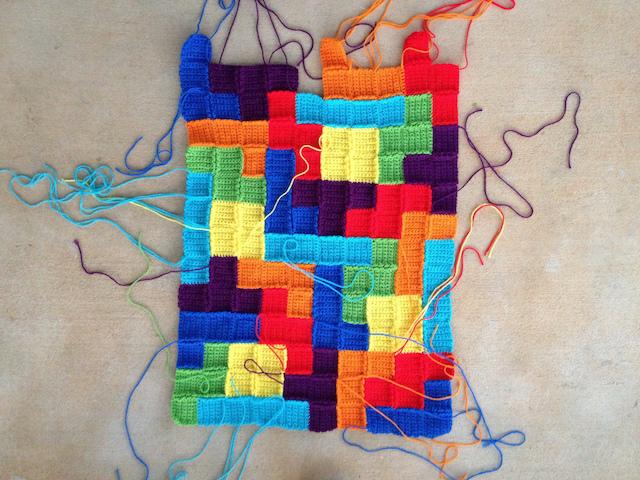 crochet weaving in ends