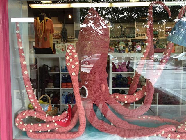large crochet squid