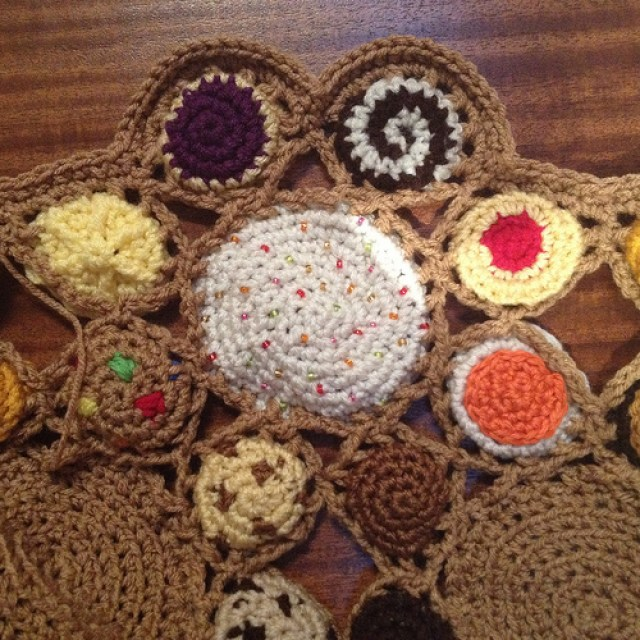 cookieghan, crochetbug, crochet cookies, crochet circles, crochet blanket, crochet throw, crochet afghan