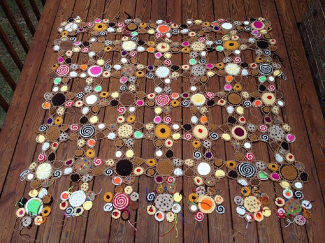 crochet cookies, crochetbug, crochet circles, crochet blanket, crochet afghan, crochet throw, state fair crochet project