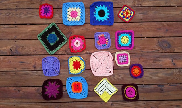 More colorful crochet squares