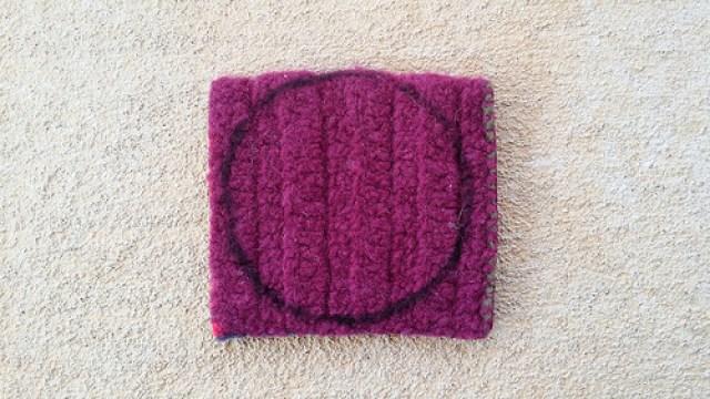 repurposing a felted crochet square
