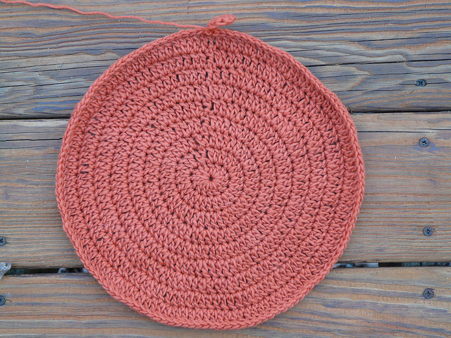 crochet circle potholder