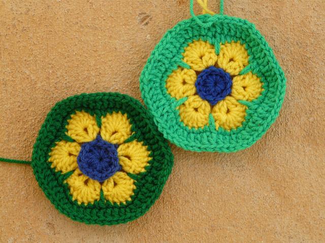 brazil flag crochet hexagons crochet soccer ball