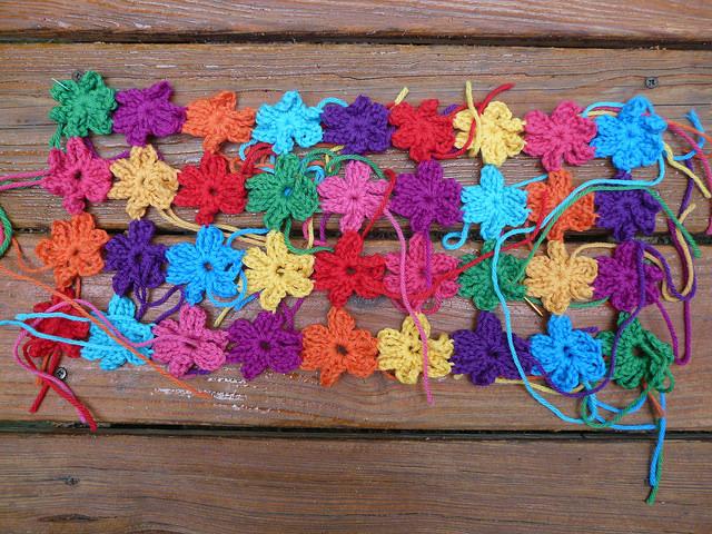 crochet flowers crochet shawl