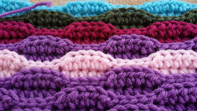 textured crochet stitch crochet swatch