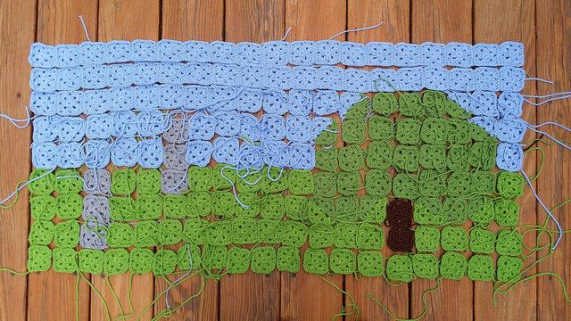 crochet square fig tree