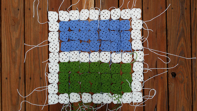 granny square window