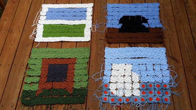 crochet squares squared
