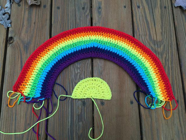crochet sun crochet rainbow