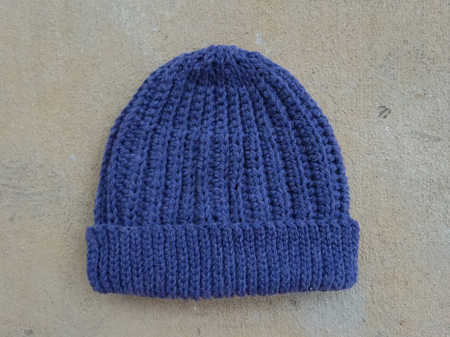 vintage yarn crochet hat