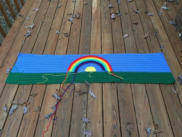 crochet rainbow crochet shawl