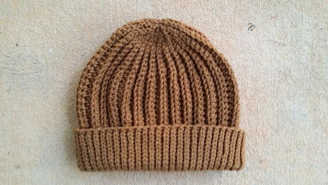caramel crochet hat