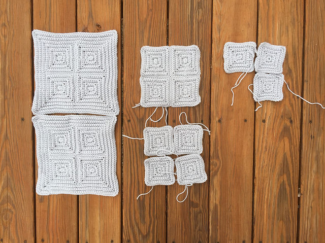 crochet textured squares