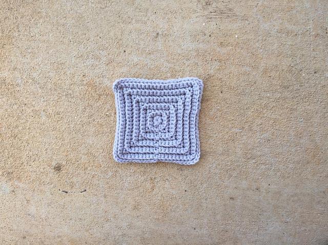 crochet textured square