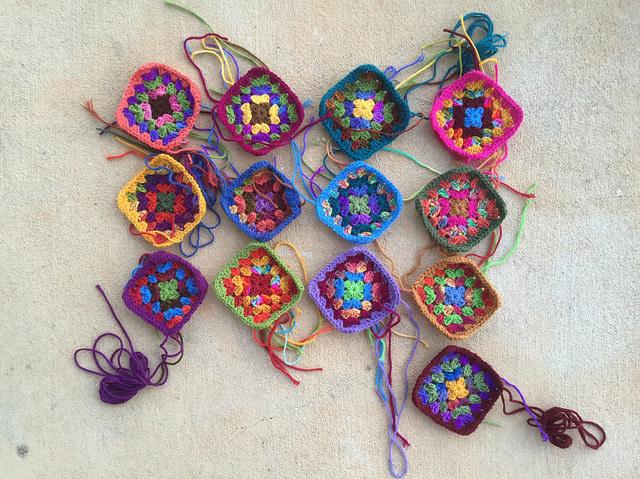 thirteen granny squares