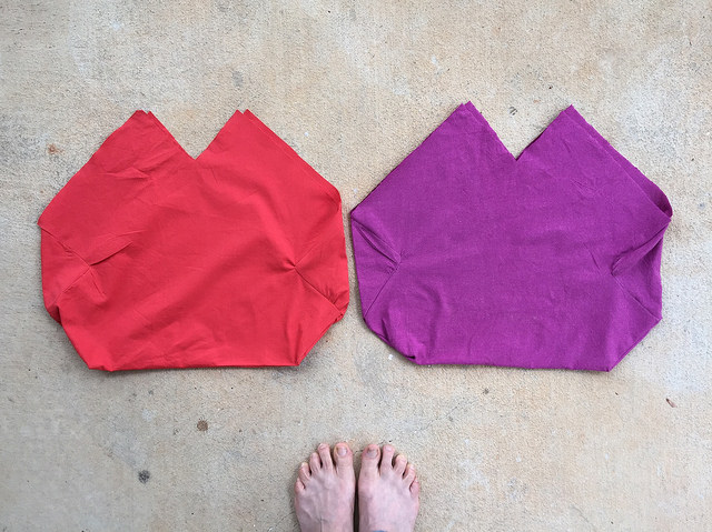 crochet purse double fabric lining