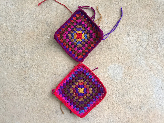two ten round granny squares