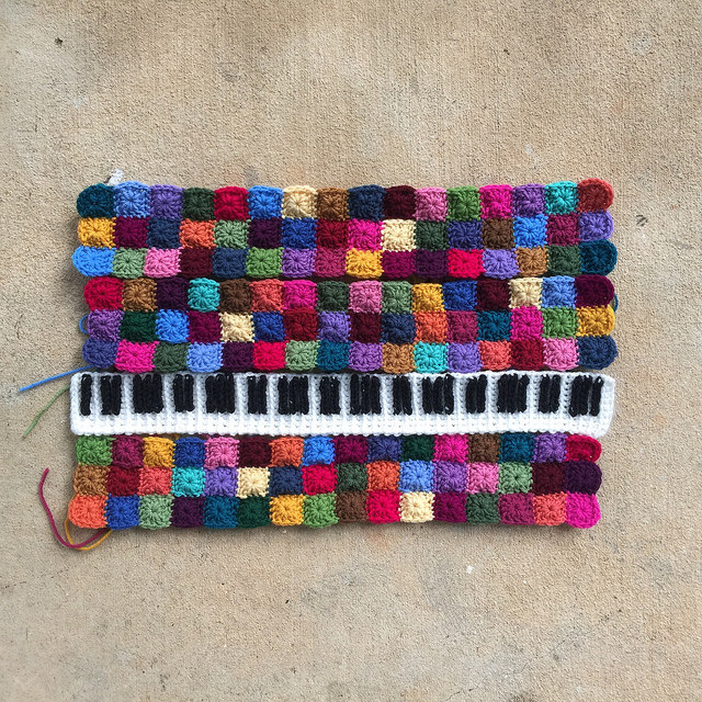 crochet piano panel crochet squares