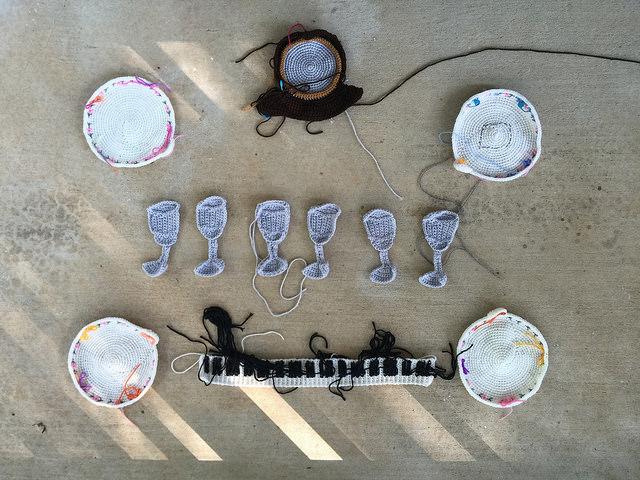 crochet motifs crochet circles crochet keyboard