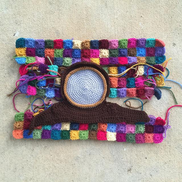 replica crochet clock