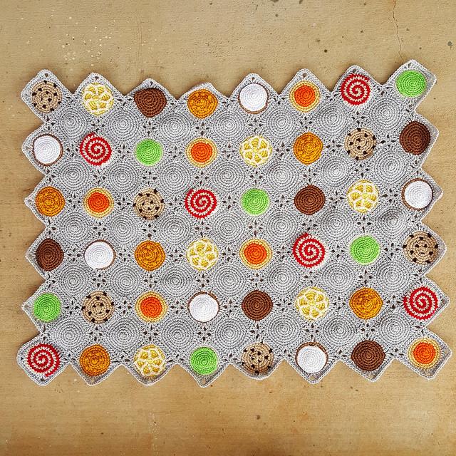 crochet cookie crochet blanket with crochet border