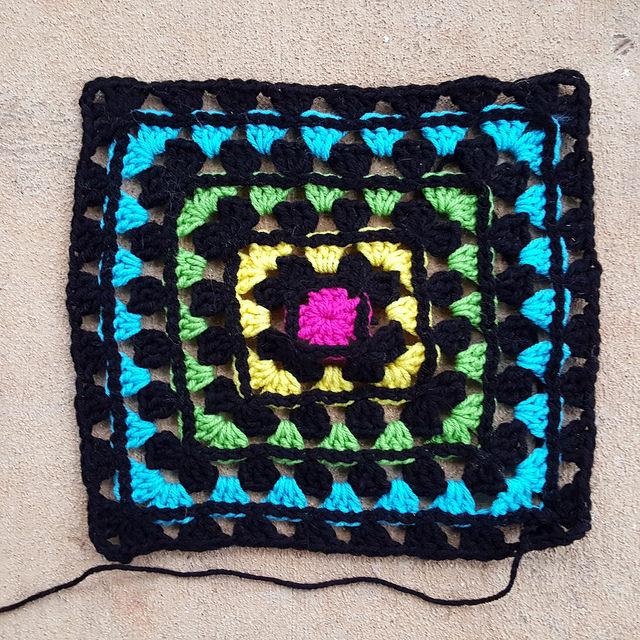 A granny square motif