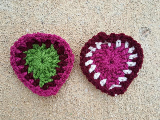 crochet boho hearts