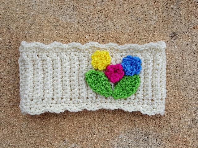 crochet ear warmer crochet headband with crochet flowers