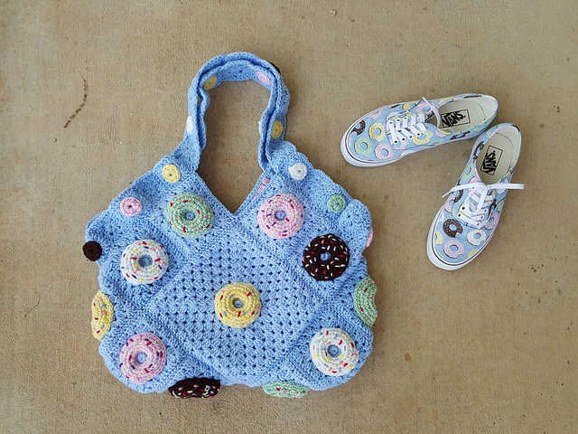 crochet donut crochet bag