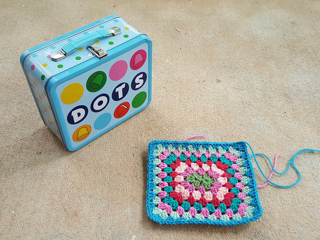 lunchbox inspired granny square