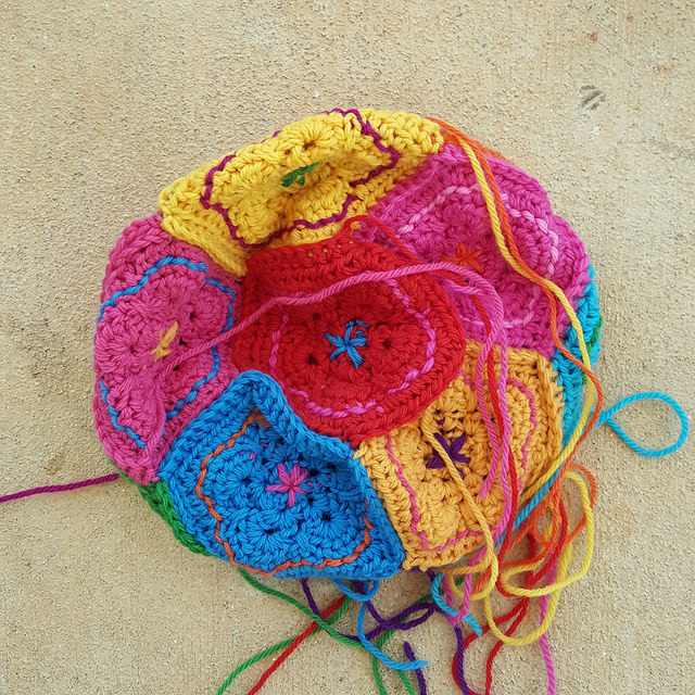 crochet wool dodecahedron