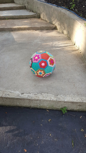 crochet soccer ball in search of adventure