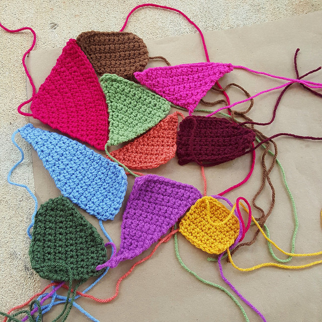 crazy quilt crochet pieces
