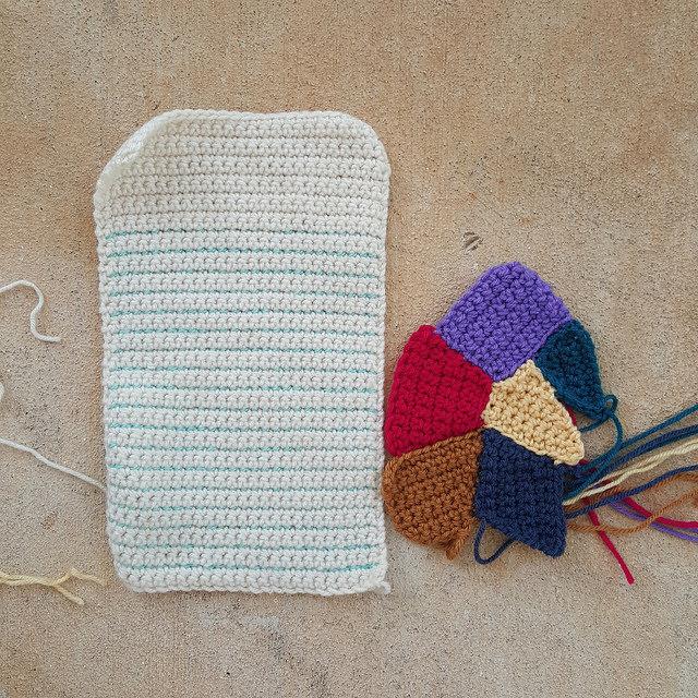 crochet crazy quilt pieces