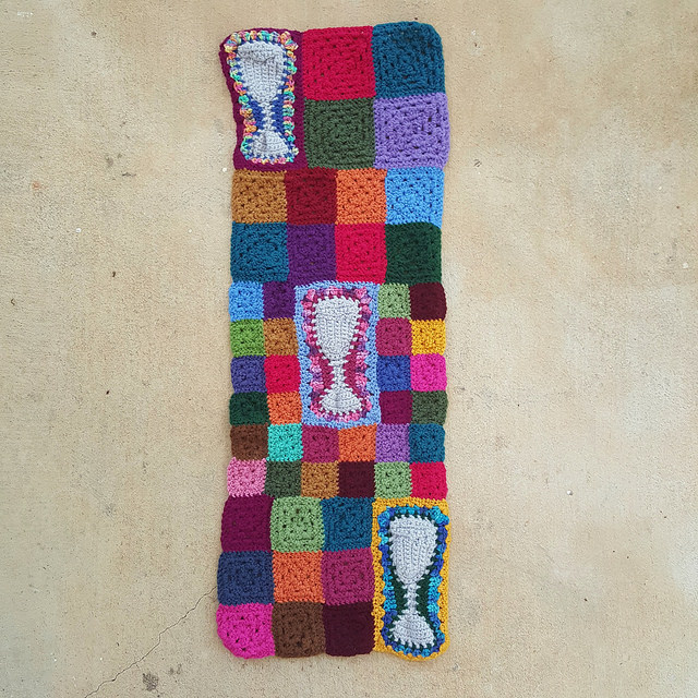 crochet panel with the ends woven in