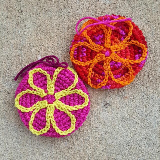 crochet flower motifs