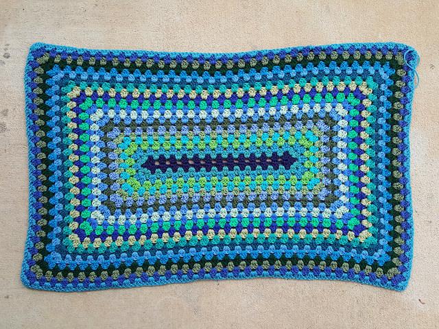 crochet granny rectangle