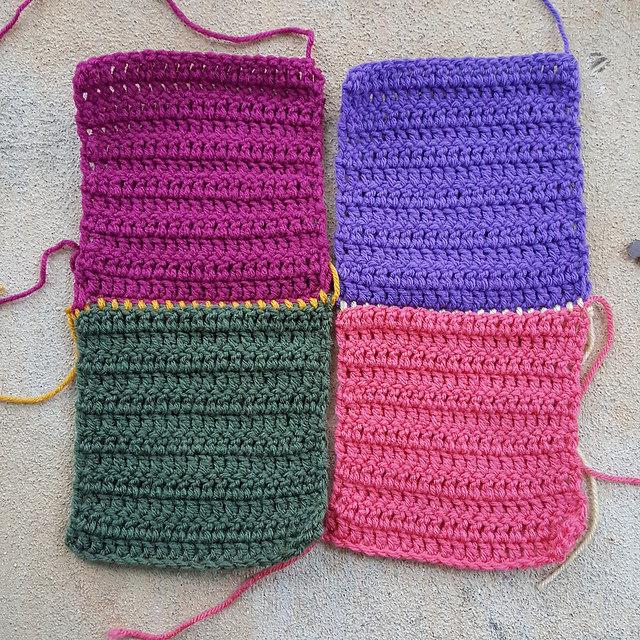 crochetbug, free tutorial, crochet joining method, crochet joining technique, crochet squares, double crochet squares,