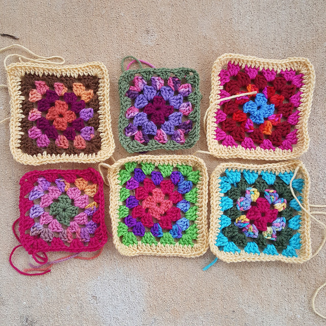 Joining the Roseanne Reboot granny squares - Crochetbug