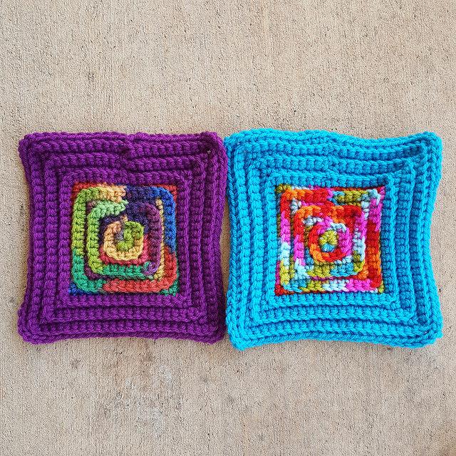 Four More Seven Inch Crochet Squares Crochetbug