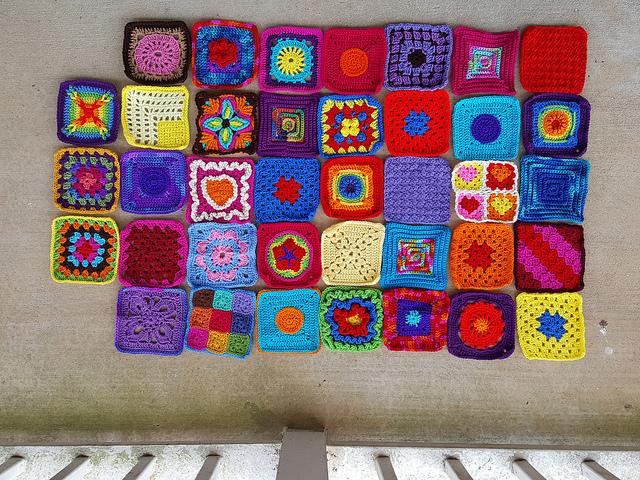 crochetbug, crochet squares, granny squares, crochet blanket, crochet afghan, crochet throw