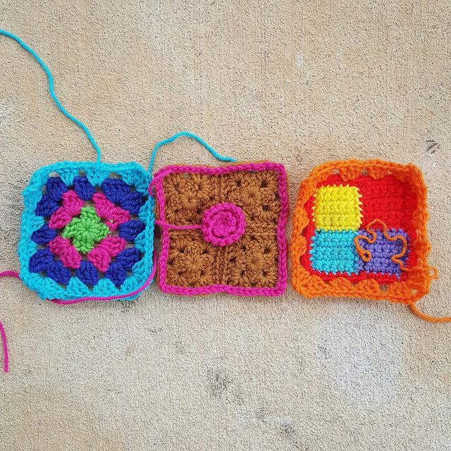 crochetbug, crochet square, granny squares, crochet flowers, crochet roses, project amigo