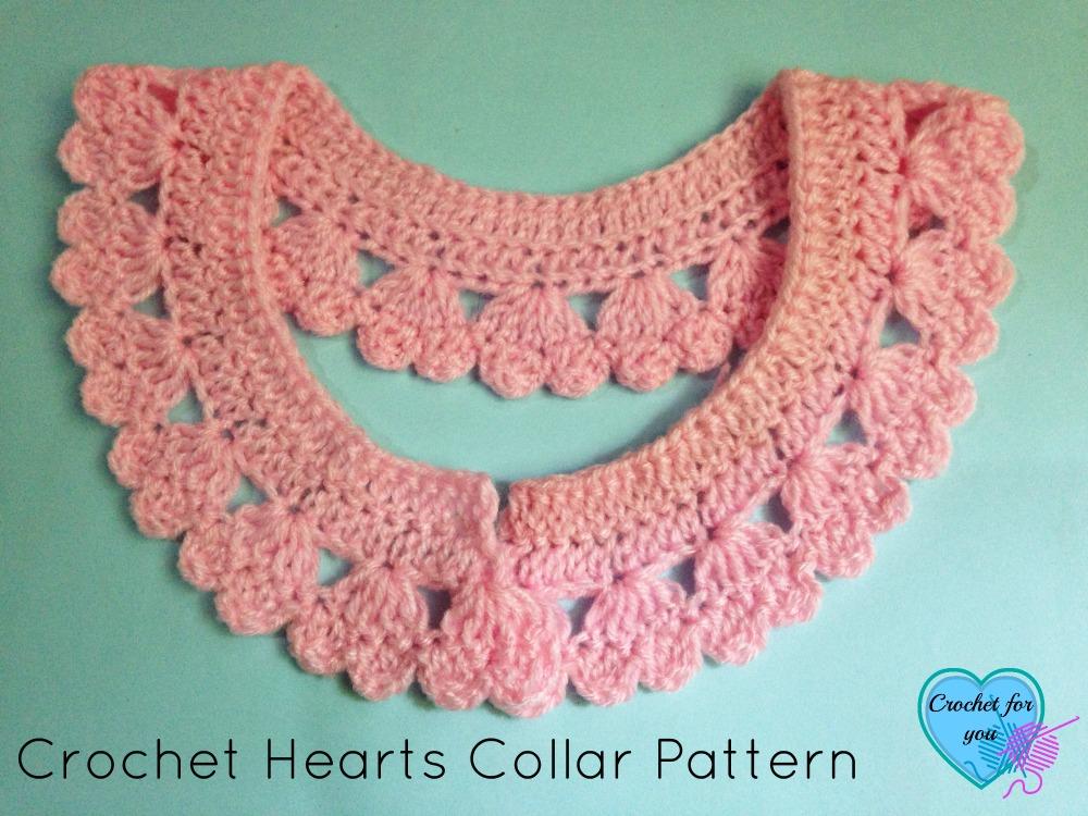 Crochet Hearts Collar Pattern - free pattern