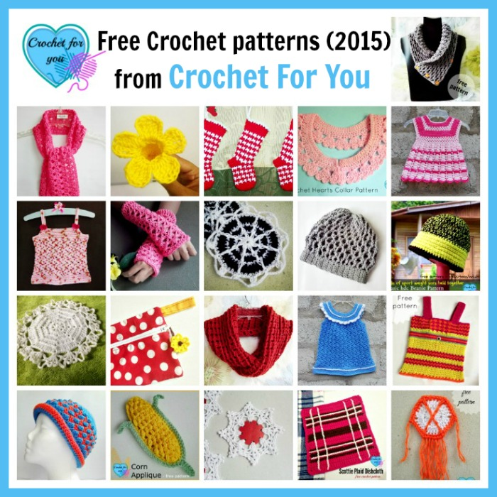 Free Crochet patterns (2015) from Crochet For You